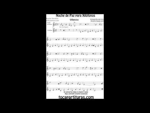Silent Night Carol sheet music for xylophone and metallophone Christmas Song