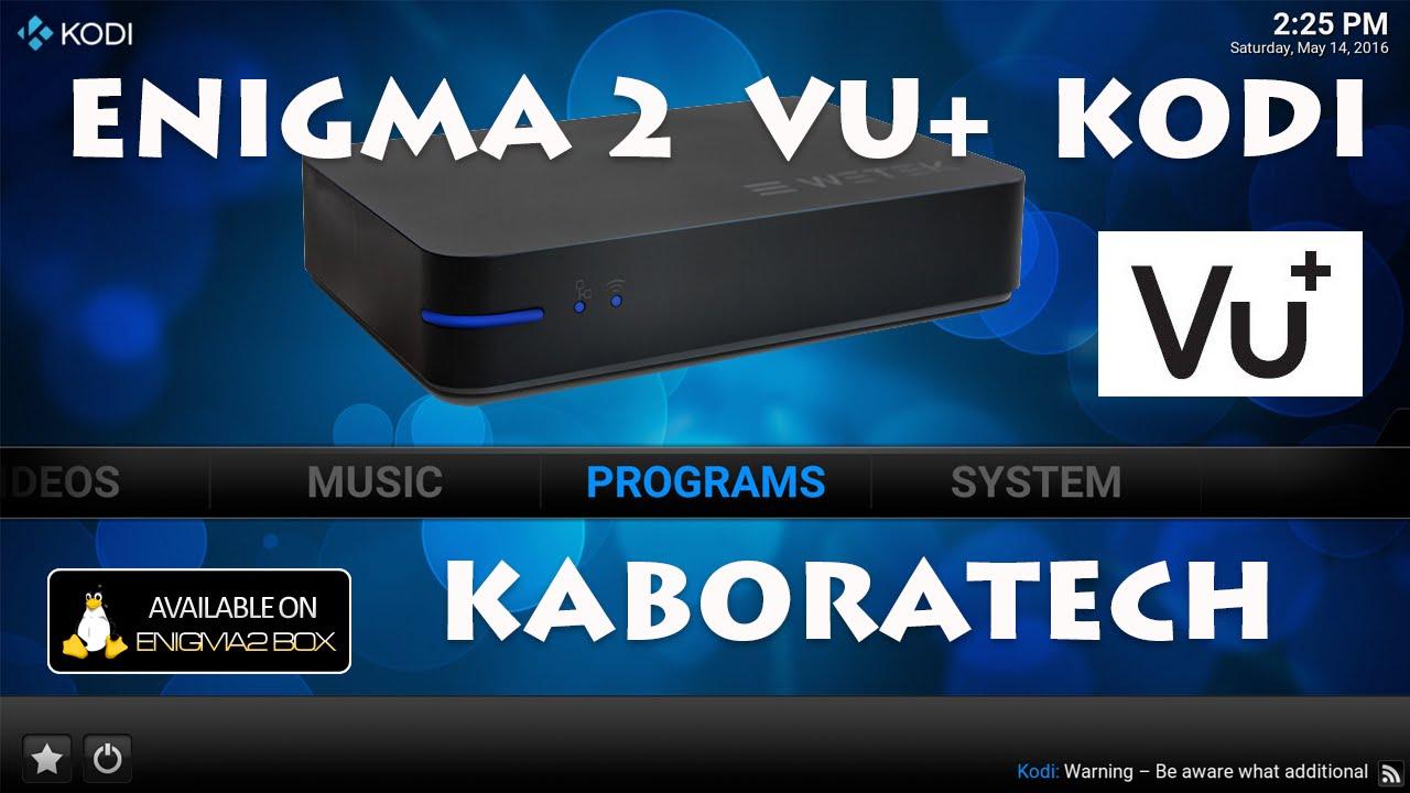 VU+ Enigma 2 SETUP for Kodi - YouTube