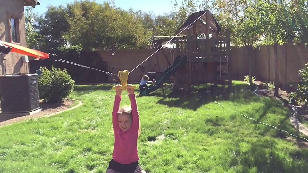 Backyard Zipline   Backyard Zipline   YouTube