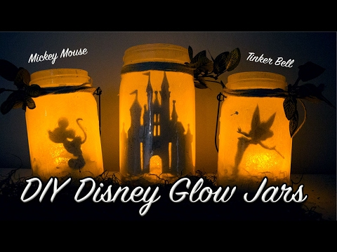 DIY: DISNEY INSPIRED GLOW JARS | DISNEY LANTERNS/NIGHT LIGHTS | NO TISSUE PAPER