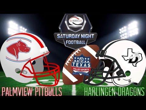 Texas Valley Sports Football Palmview Pitbulls vs Harlingen Dragons