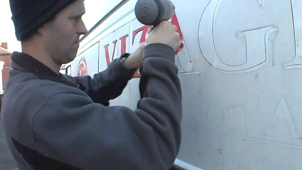 How To Remove Vinyl Lettering From A Van YouTube - Vinyl decals for cars removal