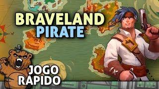 O pirata noob azarado - Braveland Pirates | Jogo Rápido - Gameplay Português Vamos Jogar PT-BR