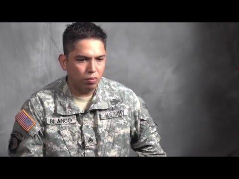 Soldier talks about his struggle with depression and PTSD