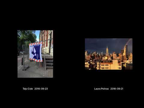 Talking Pictures: Teju Cole and Laura Poitras
