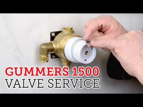 How to service Gummers 1500 style shower valve & cartridge - YouTube