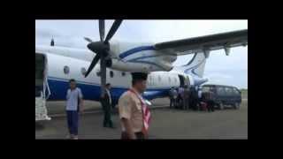 テルナテからモロタイ島へのフライト Penerbangan dari Ternate ke Morotai