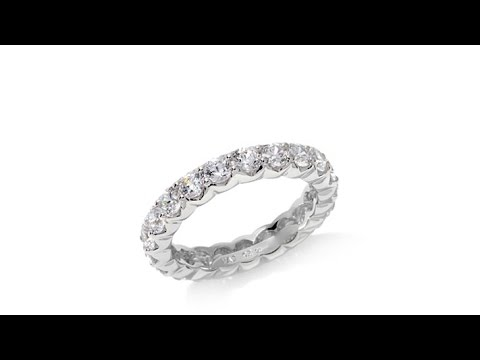 Absolute 3mm Round ProngSet Eternity Band Ring. https://pixlypro.com/AXpjaX0