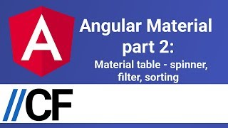 Angular Material part 2: Material table - spinner, filter, sorting
