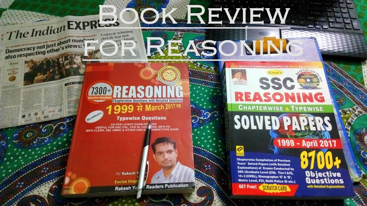 Rakesh Yadav Reasoning | Kiran Chapterwise Reasoning | Book Review For SSC  Exam