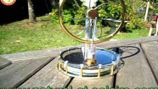 Moteur de Stirling Solaire, mobile, objet cadeau ou decoration