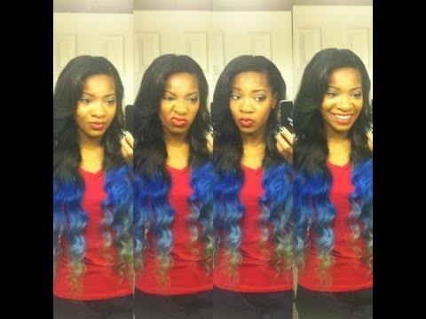 blue flame hair ombre follow
