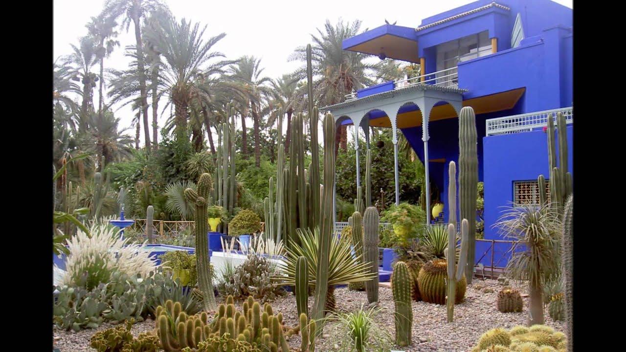 Les jardins de majorelle marrakech youtube - Les jardins de marrakech ...