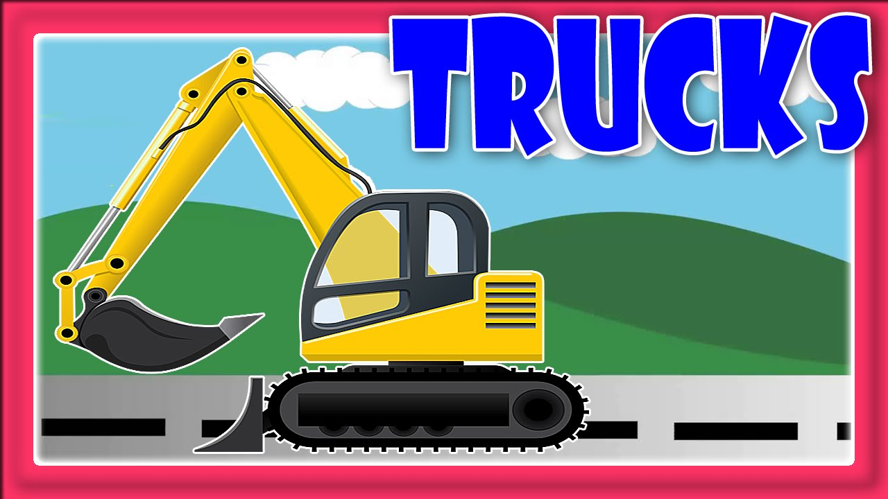 trucks for children road roller truck and excavator truck at