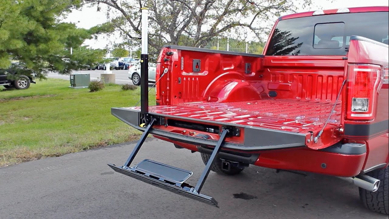 How To Use The Tailgate Step On A 2016 Ford F 150 Xlt
