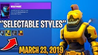 *NEW* BEASTMODE SKIN WITH SELECTABLE STYLES - FORTNITE ITEM SHOP MARCH 23, 2019