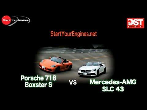 【DST#103 01-02】メルセデスAMG SLC 43 vsポルシェ718ボクスター S Mercedes-AMG SLC43 vs Porsche 718 Boxster S