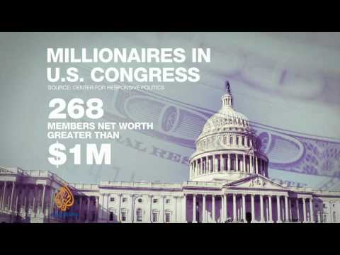 Majority in US Congress are millionaires