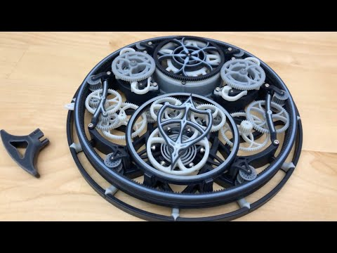 3D Printed Tourbillon Mechanical Clock