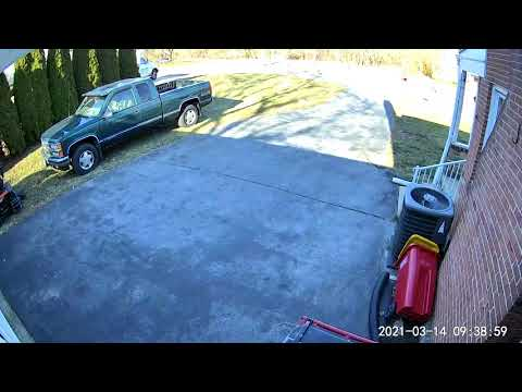 Deer Runs At Full Speed Right Into A Maryland Man's Garage Door… Sounds Like A Cannon Went Off