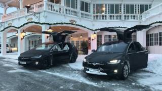 TESLA MODEL X CHRISTMAS SPECIAL XMAS EASTER EGG