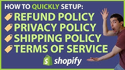 How To Add Your Refund Policy To Shopify (+4 More Important Pages)