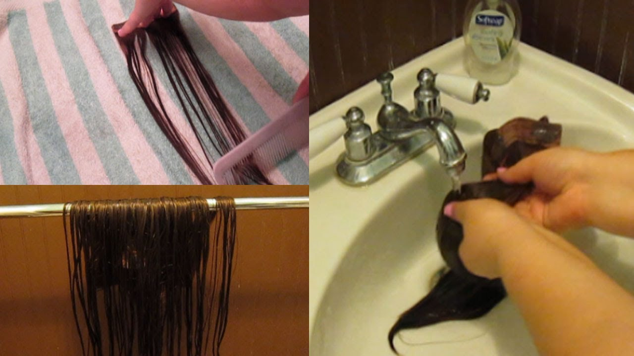 How i wash my human hair extensions youtube how i wash my human hair extensions pmusecretfo Images