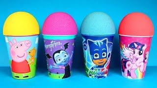 Kinetic Sand Super Surprise Cups PJ Masks Peppa Pig My Little Pony Toys Poopsie Slime Cutie Tooties
