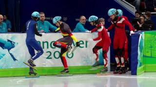 Repeat youtube video Hamelin (CAN) Wins 500m Short Track Speed Skating Gold - Vancouver 2010 Winter Olympics