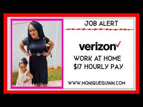 Verizon Wireless Hiring Work At Home $17-$19 Hour Run Apply