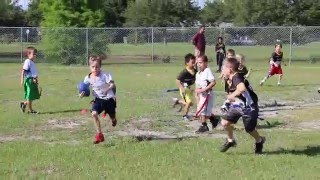 One Faster Kid! NFL Flag Football highlights -  age 5-8 years old