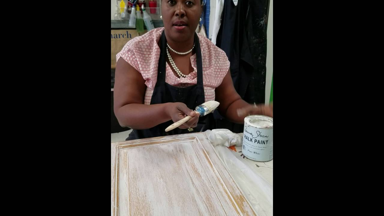 Painting A White Wash On Kitchen Cabinets With Annie Sloan Chalk Paint Youtube