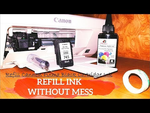 Simplest Method to Refill Ink | Cannon Pixma MG2470/2570 Printer| India