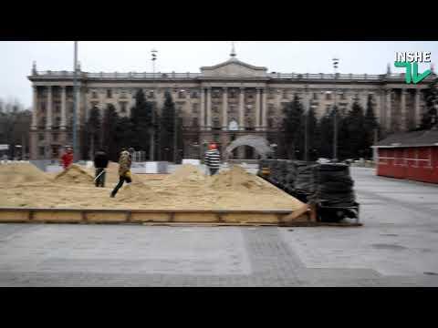 ІншеТВ: В Николаеве на Соборной площади начали подготовку к новогодним праздникам