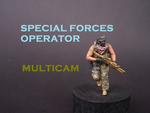 Painting 1/35 Special Forces Operator In Multicam