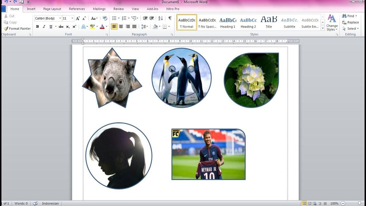 Cara Mudah Memasukkan Gambar Kedalam Objek Di Ms Word Youtube