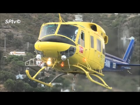 INCREDIBLE  helicopter pilots during a fire forest