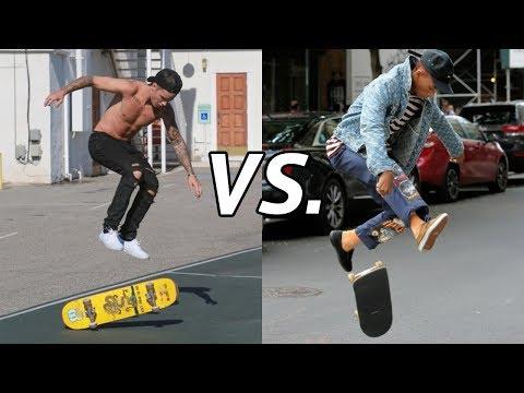 Justin Bieber Vs. Jaden Smith Skateboarding