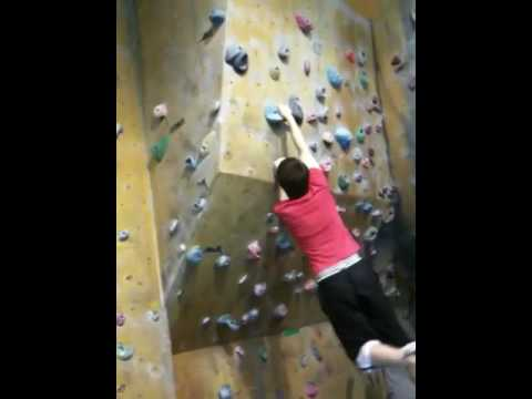 Phil bouldering at The Ozone Belfast