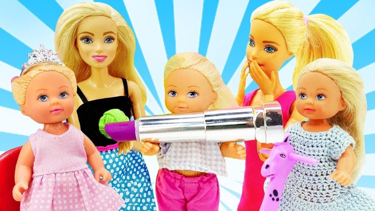 Video e giochi per bambini. Una giornata con Barbie e Evi. Tutti gli episodi
