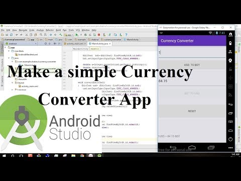 Make A Simple Currency Converter Android App Using Android Studio | Android Studio