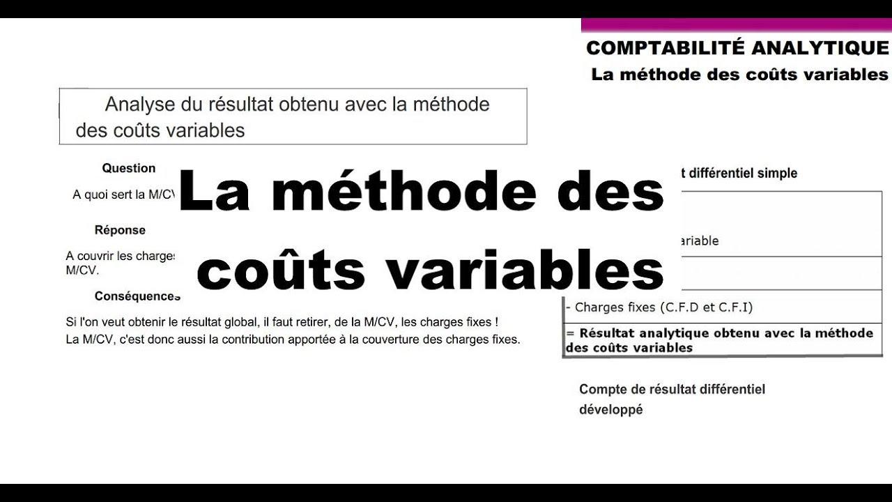 Download La méthode des coûts variables - Parie 1