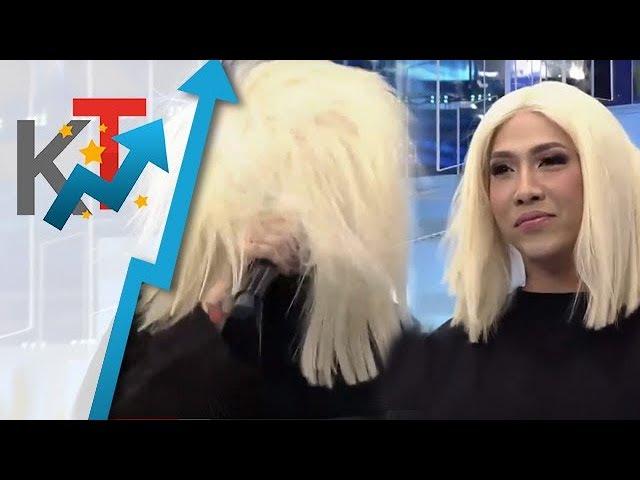 Hala! Vice Ganda, live na inayos ang ang kanyang wig! 😂😂