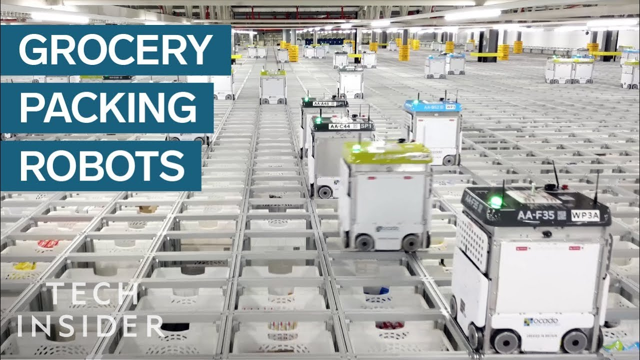05659985a9c0 Inside A Warehouse Where Thousands Of Robots Pack Groceries - YouTube
