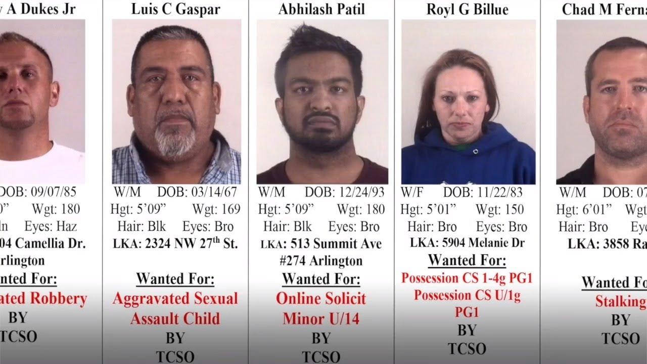 Tarrant County's 10 Most Wanted Criminals, October 3