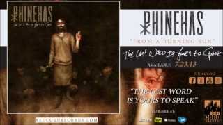 "Phinehas - ""From a Burning Sun"""