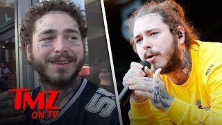 Post Malone Drunk On Hollywood Blvd At 8 am | TMZ TV