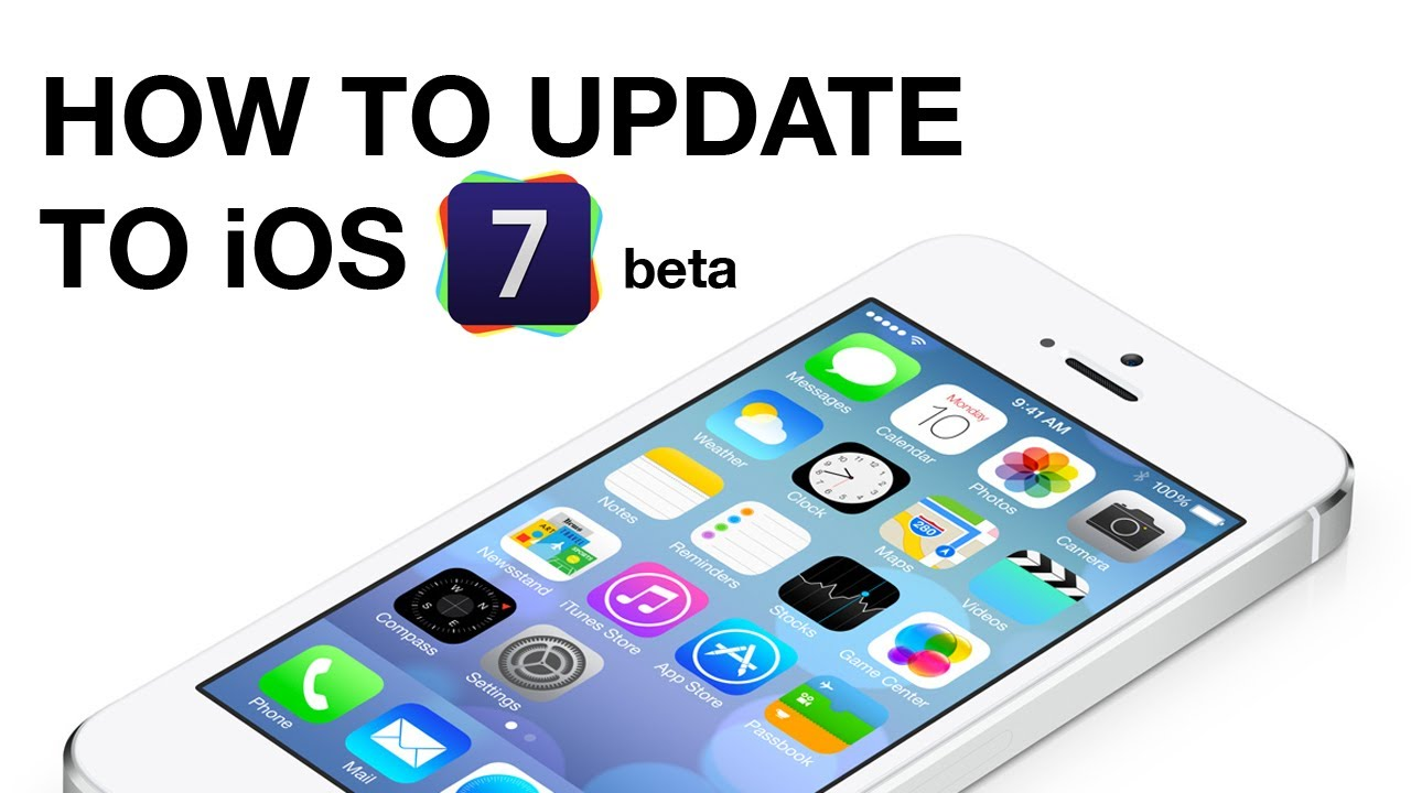 how to get the ios 7 update