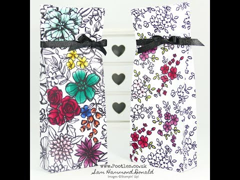 Petal Passion Blends Coloured Bag Tutorial using Stampin' Up! Supplies