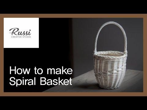 라탄 손잡이바구니 만들기[라탄공예] 취미 수업 온라인클래스 9. /Rattan Craft : Rattan Spiral Basket, かご,라탄바구니,DIY